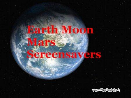 Earth Moon Mars Screensavers