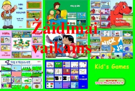 Vaikams.Kids Flash Games