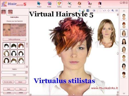 Virtualus stilistas.Virtual Hairstyle 5