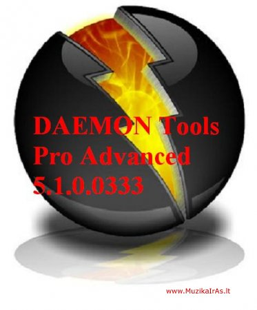 Programos.DAEMON Tools Pro Advanced 5.1.0.0333