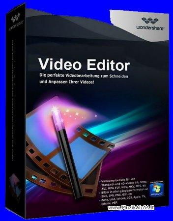 Programos.Wondershare Video Editor