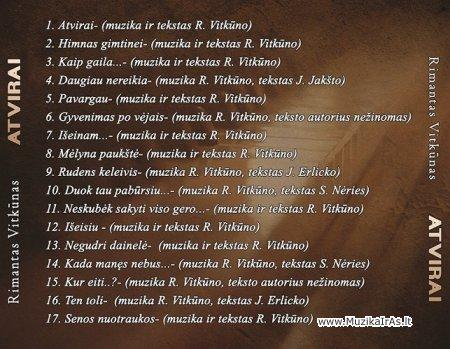 Rimantas Vitkūnas-CD,,Atvirai,,
