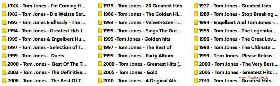 Tom Jones -Diskografija